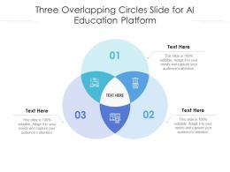 Three Overlapping Circles Slide For AI Education Platform Infographic Template
