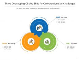 Three Overlapping Circles Slide For Conversational AI Challenges Infographic Template