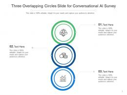 Three Overlapping Circles Slide For Conversational AI Survey Infographic Template
