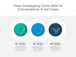 Three Overlapping Circles Slide For Conversational AI Use Cases Infographic Template
