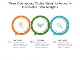 Three Overlapping Circles Visual For Accounts Receivable Data Analytics Infographic Template