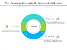 Three Overlapping Circles Visual For Automate Credit Decisions Infographic Template