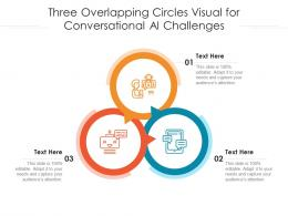 Three Overlapping Circles Visual For Conversational AI Challenges Infographic Template