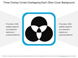 Three Overlay Circles Overlapping Each Other Cover Background