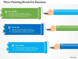 Three Painting Brush For Business Flat Powerpoint Design