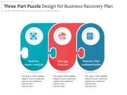 Three Part Puzzle Design For Business Recovery Plan