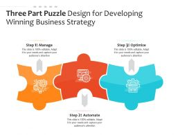 Three Part Puzzle Design For Developing Winning Business Strategy
