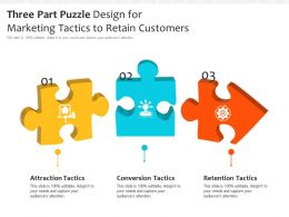 Three Part Puzzle Design For Marketing Tactics To Retain Customers