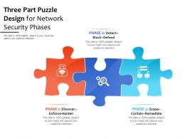 Three Part Puzzle Design For Network Security Phases