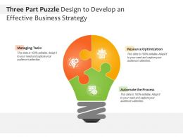 Three Part Puzzle Design To Develop An Effective Business Strategy