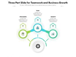 Three Part Slide For Team Work And Business Growth