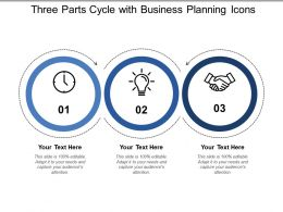 Three Parts Cycle With Business Planning Icons