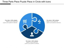 Three Parts Piece Puzzle Piece In Circle With Icons