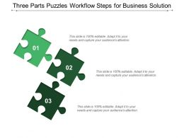 Three Parts Puzzles Workflow Steps For Business Solution