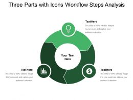 Three Parts With Icons Workflow Steps Analysis