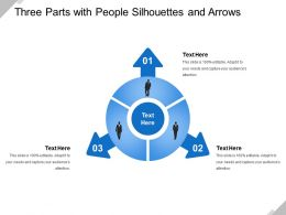 Three Parts With People Silhouettes And Arrows