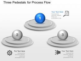 Three Pedestals For Process Flow Powerpoint Template Slide