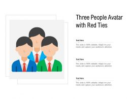 Three People Avatar With Red Ties
