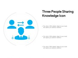 Three People Sharing Knowledge Icon