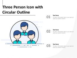 Three Person Icon With Circular Outline