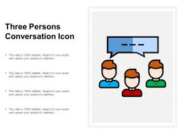 Three Persons Conversation Icon