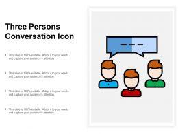 Three Persons Conversation Icon