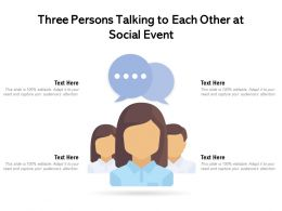 Three Persons Talking To Each Other At Social Event