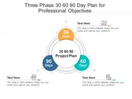 Three Phase 30 60 90 Day Plan For Professional Objectives Infographic Template