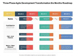 Three Phase Agile Development Transformation Six Months Roadmap