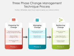 Three Phase Change Management Technique Process