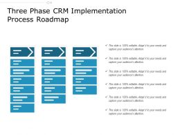 Three Phase CRM Implementation Process Roadmap