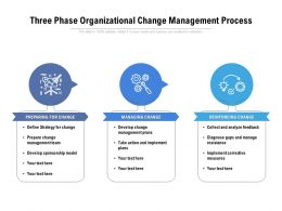 Three Phase Organizational Change Management Process