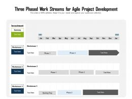Three Phased Work Streams For Agile Project Development