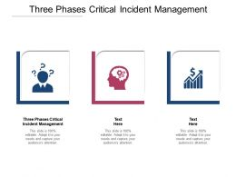 Three Phases Critical Incident Management Ppt Powerpoint Presentation Inspiration Cpb