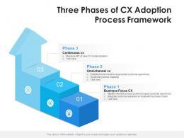 Three Phases Of CX Adoption Process Framework