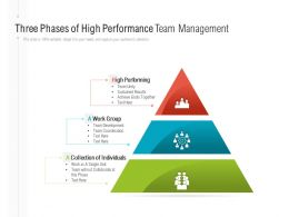 Three Phases Of High Performance Team Management
