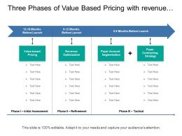 Three Phases Of Value Based Pricing With Revenue Optimization And Account Segmentation