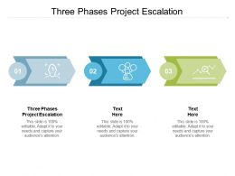 Three Phases Project Escalation Ppt Powerpoint Presentation Model Clipart Cpb