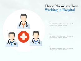 Three Physicians Icon Working In Hospital