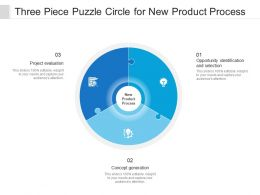 Three Piece Puzzle Circle For New Product Process