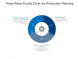 Three Piece Puzzle Circle For Production Planning