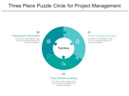 Three Piece Puzzle Circle For Project Management