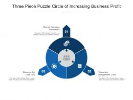 Three Piece Puzzle Circle Of Increasing Business Profit