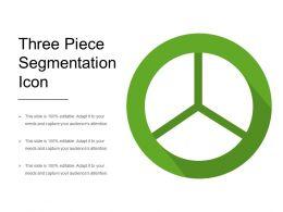 Three Piece Segmentation Icon
