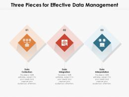 Three Pieces For Effective Data Management
