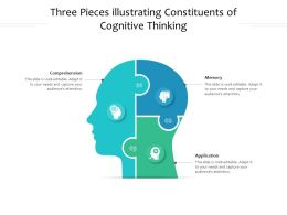 Three Pieces Illustrating Constituents Of Cognitive Thinking