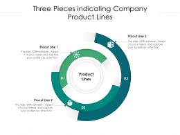 Three Pieces Indicating Company Product Lines
