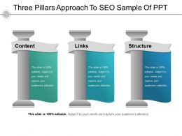 Three Pillars Approach To Seo Sample Of Ppt