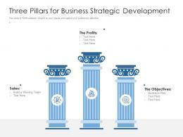 Three Pillars For Business Strategic Development