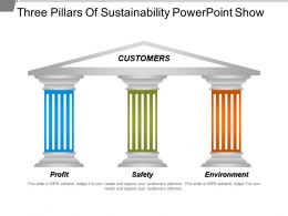 Three Pillars Of Sustainability Powerpoint Show